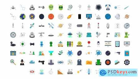 100 Space & Universe Icons 30006608