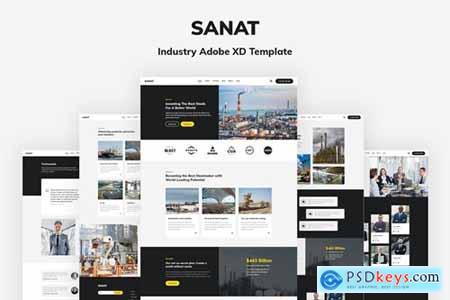 Sanat - Industry Adobe XD Template