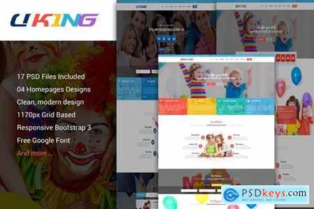 Uking - Creative Kindergartens PSD Template