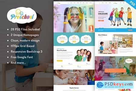 Preschool - Multipurpose Education PSD Template