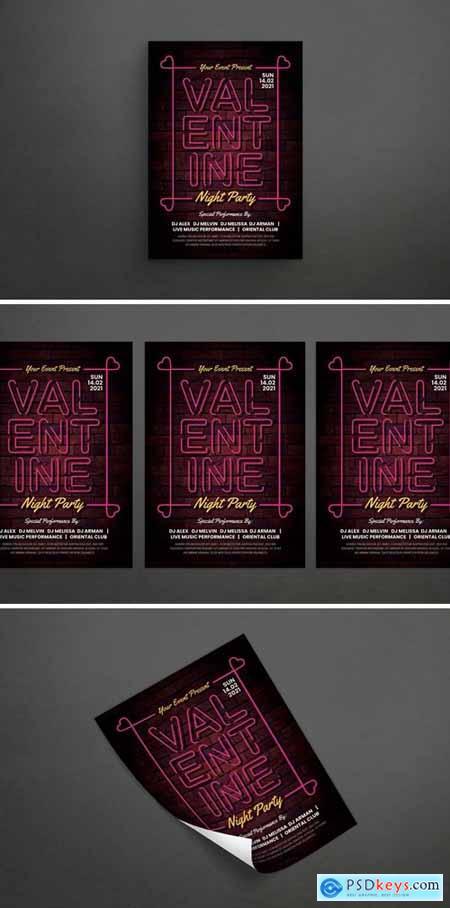 Valentine Party Flyer PQXTZMU