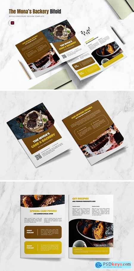 The Monas Backery Bifold Brochure