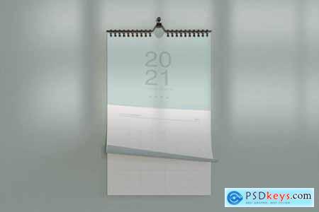 Hanging Calendar Mockup