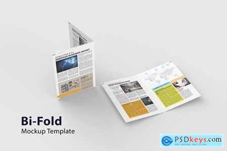 Bi-Fold Brochure - Mockup Template