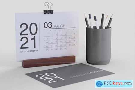 Desk with Calendar Mockup VDX8VXK