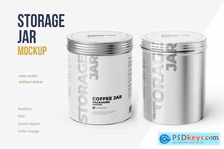 Metallic Storage Jar Angle view 5517228