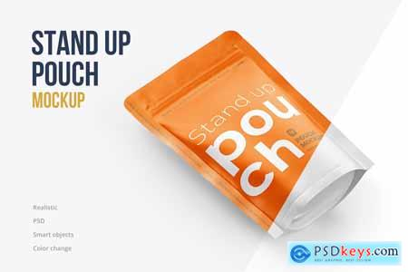 Stand Up Pouch Mockup Top Half Side 5142934
