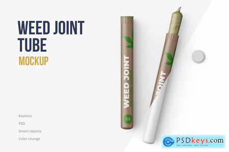 Weed Joint Pre-Roll Tubes Mockup 4834895