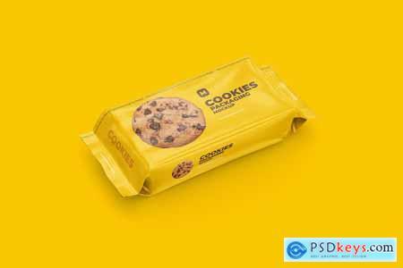 Flow Pack Cookies Mockup 4583812