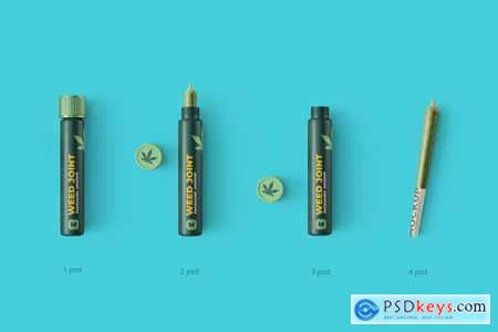 Weed Joint Pre-Roll Tubes 4 PSD 4975262