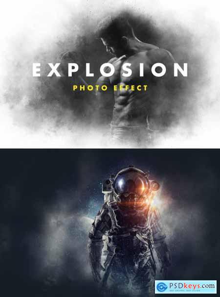 Powder Explosion Photo Effect Mockup 399845045