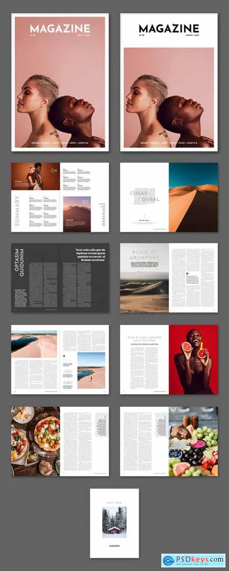 Simple Magazine Layout 399851301