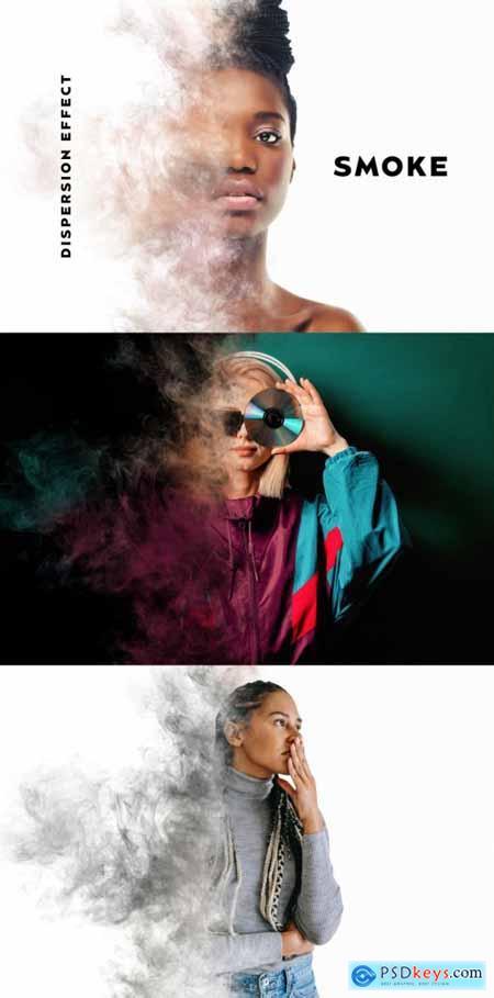 Smoke Dispersion Photo Effect Mockup 399805797