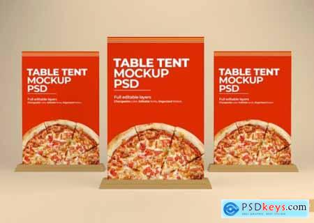 Table tent stand mockup
