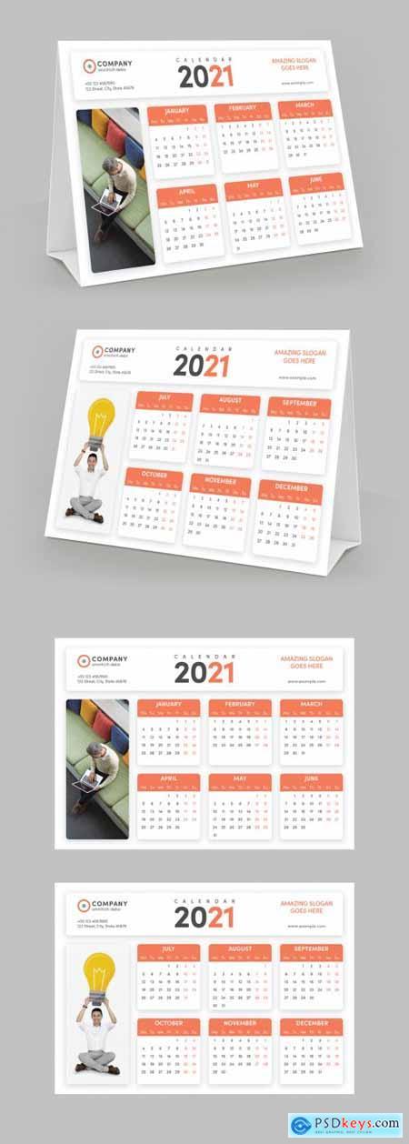 Tent Style Desk Calendar Layout 399838745