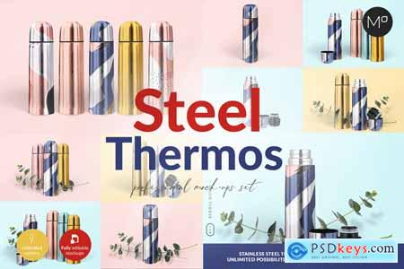 Steel Thermos Mock-ups 5502501