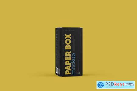 Paper Box Mockup 43x92mm 5740336