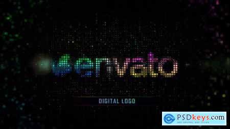 Color Digital Grid Logo 25297681