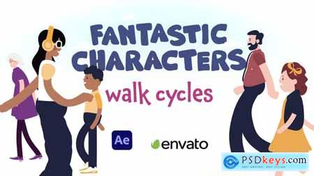 Fantastic Characters - Walk Cycles 30082110