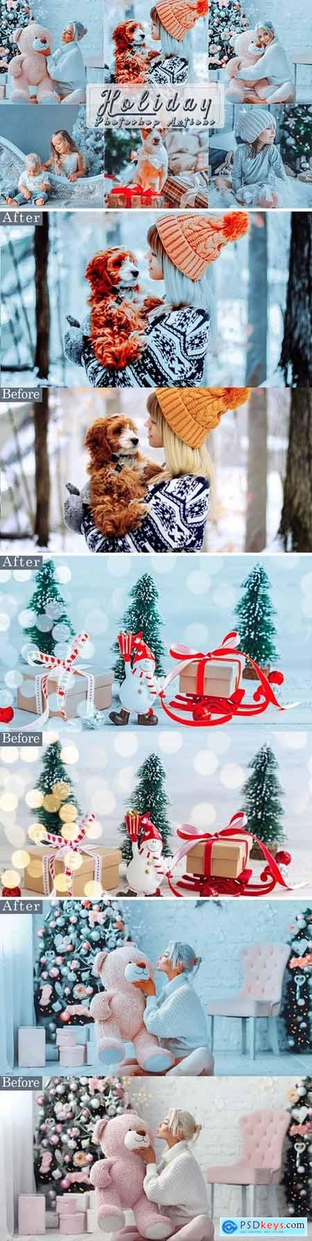Holiday Photoshop Actions