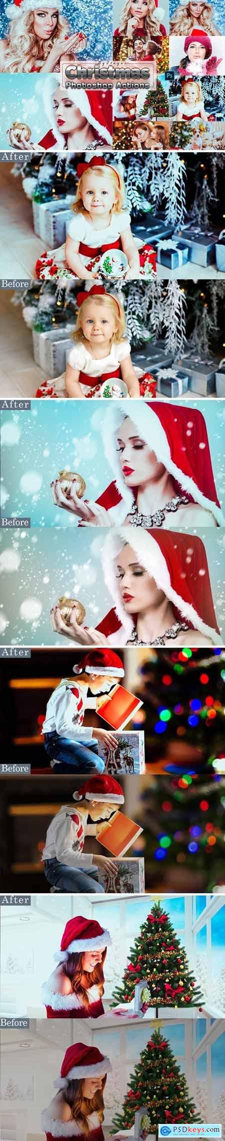 Xmas Christmas Photosahop Actions
