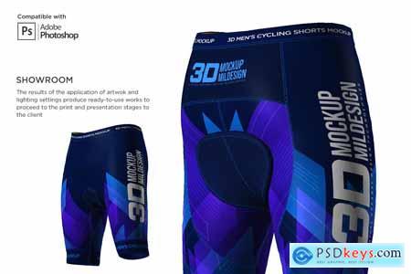 3D Men's Cycling Shorts Mockup 5557672