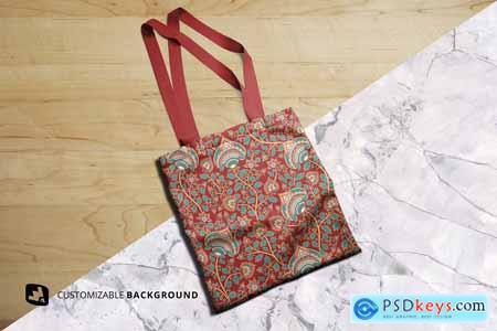 Topview Reusable Cotton Bag Mockup 5165533