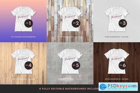 Realistic Blank T-shirt Mockups 5621608
