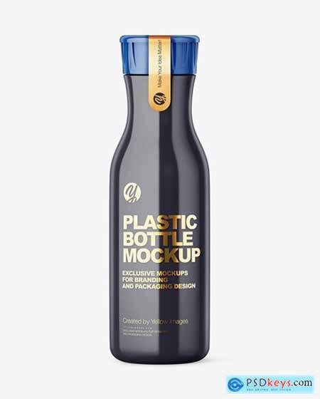 Glossy Plastic Bottle With Plastic Cap 72966