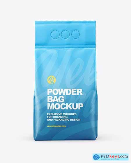 Matte Powder Bag Mockup 73066