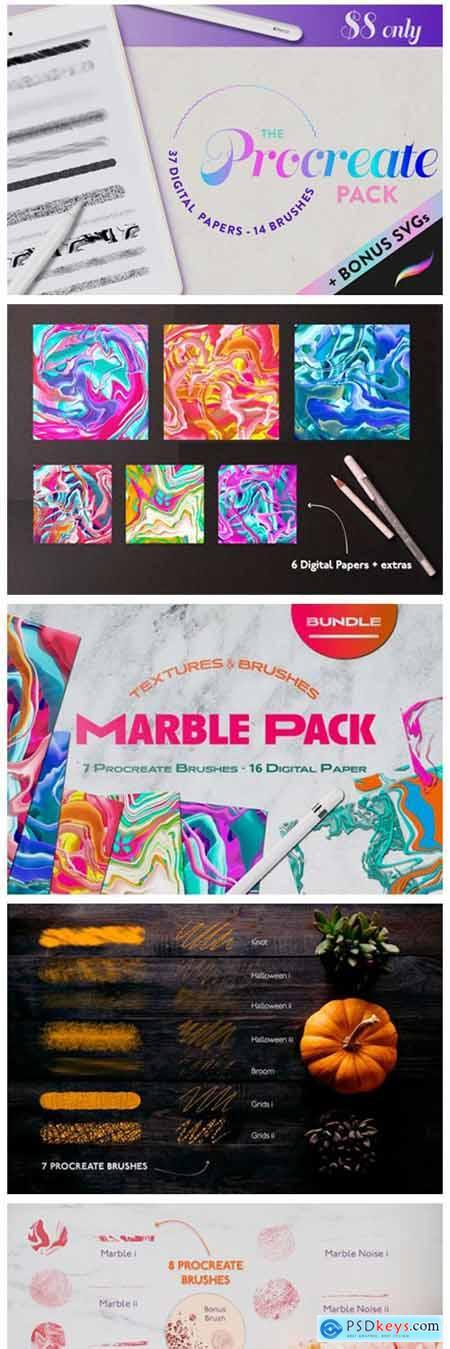 Procreate Bundle Pack Texture Digital 7394083