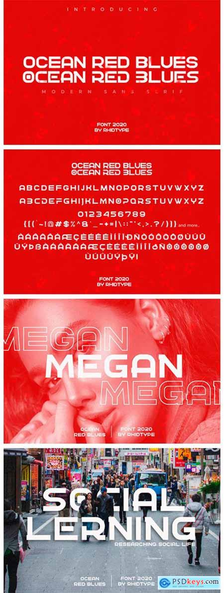 Ocean Red Blues Font