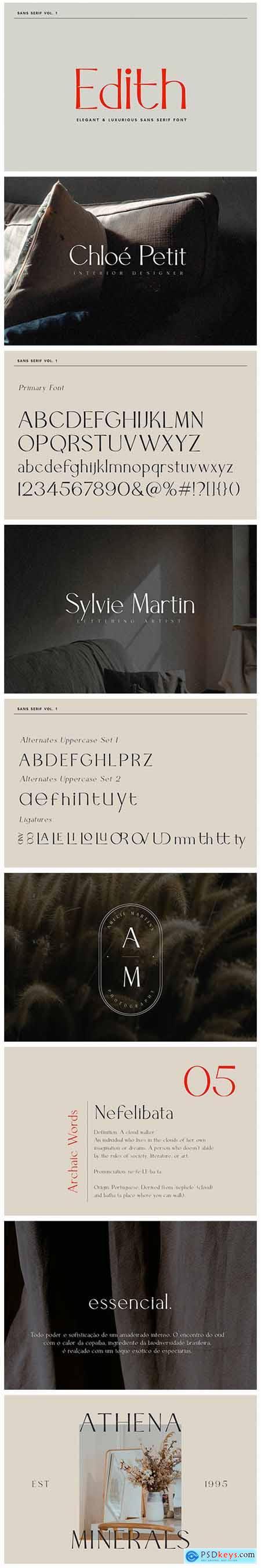 Edith - Sans Serif Font 5044161