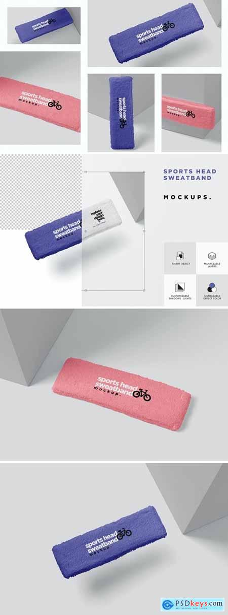 Head Sweat Band Mockups