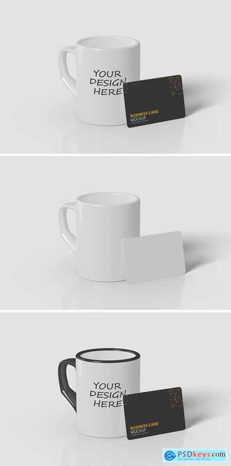 Mug and Card Mockup