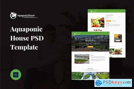 Aquaponic House PSD Template