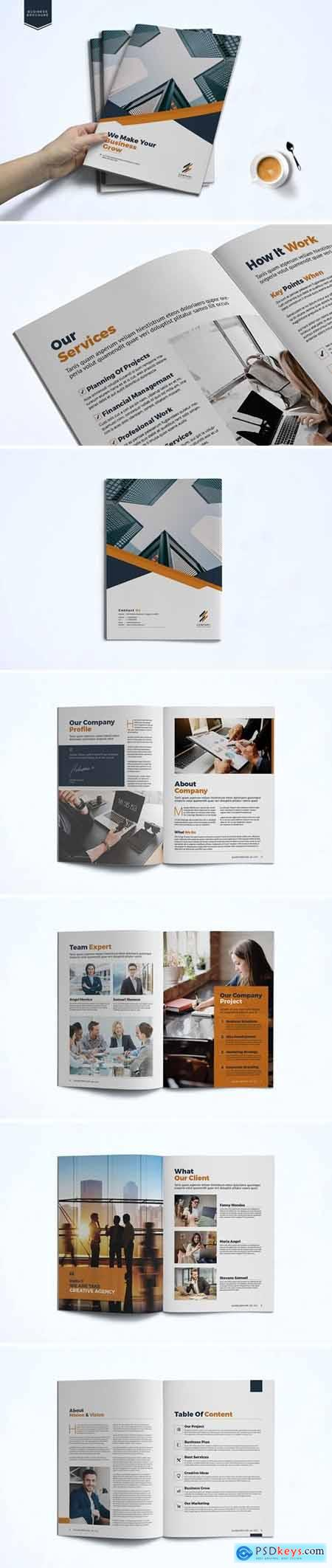 Business Brochure Template 9T8V7BH