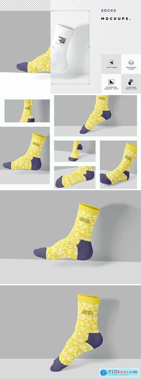 Cotton Socks Mockups