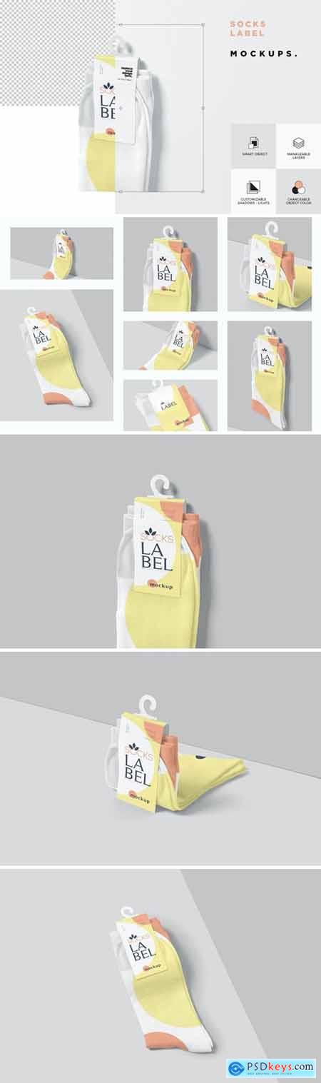 Socks Label Tag Mockups