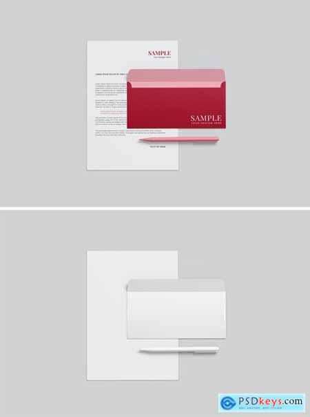 Simple Business Stationery Mockup