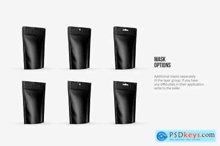 Stand Up Pouch Mockup Half Side view 5150278