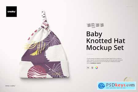 Baby Knotted Hat Mockup Set 4287908