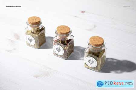 Spice Jar Round Labels Mockup Set 5333820