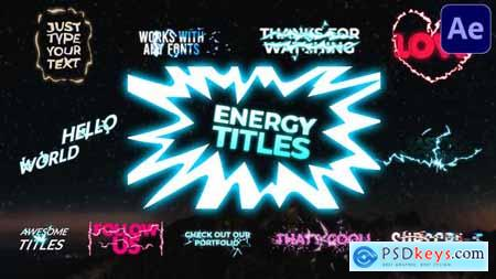 Energy Titles Pack - After Effects 30128033