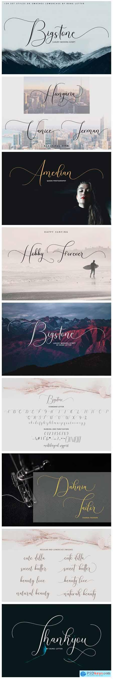 Bigstone Font