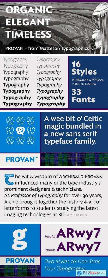 Provan Formal Font Family