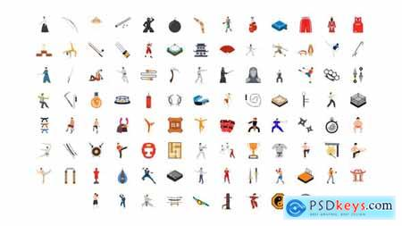 100 Martial Arts Icons 30141890