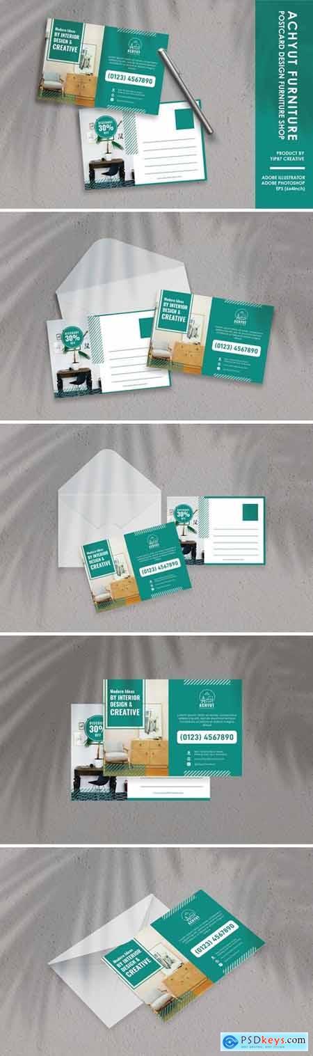 Interior Furniture Design Postcard