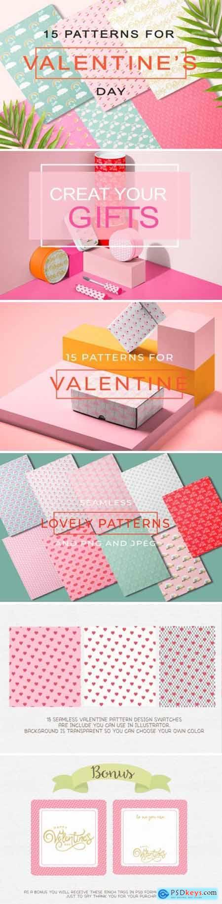 Lovely Valentines Day Pattern 7882368