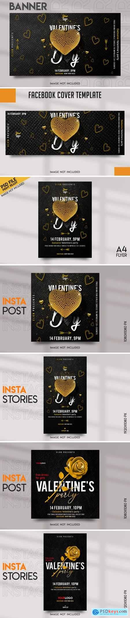 Valentines Party Social Media Template
